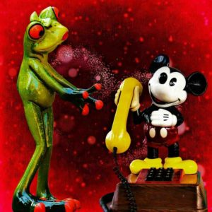 mickey and frog 300x300 - The Story of Mickey Mouse - How The Mouse Shot To Fame